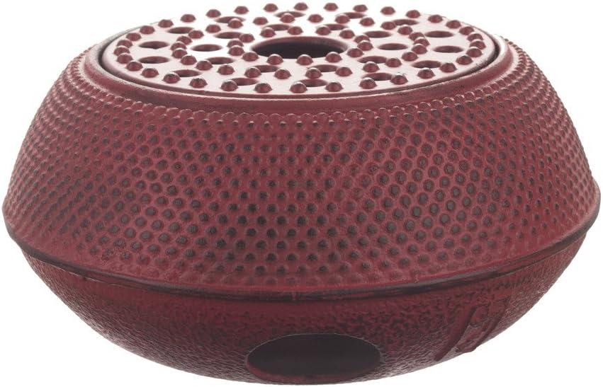M.V. Trading T-7048 Large Cast Iron Tetsubin Teapot Warmer Arr, Red