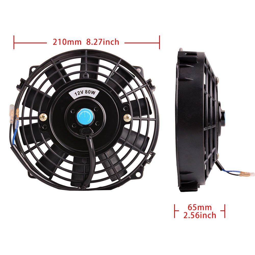 12/'/'inch 2150 CFM Slim Electric Cooling Fan Radiator Push Pull Mount Kit
