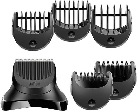 Braun Series 3 Pack con cabezal de recortadora de barba y 5 peines ...