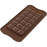 Unbekannt Silikomart 195931çikolata kalıbı tablette Choco bar çikolata kalıbı, silikon, kahverengi, 11,6x 7,8x 10cm