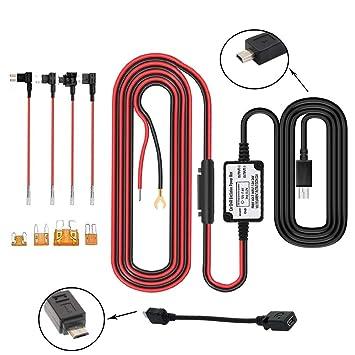0a78c1374f Dash Cam Hardwire Kit Mini / Micro USB câble rigide Kit chargeur de voiture  câble 12V