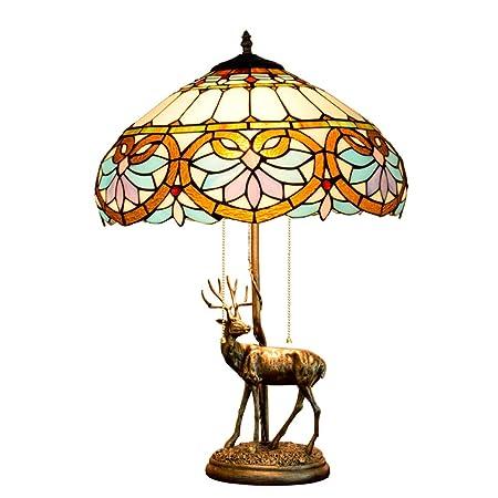 Lámpara de Mesa mediterránea Lámpara de Mesa Tiffany Lámpara de ...