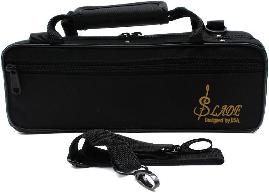 RONSHIN Piccolo Half-Size Flute Cupronickel Silver Plated C Key Tone with Polish Cloth Stick Case Screwdriver Gold