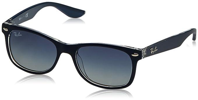 Ray-Ban Junior Nuevas gafas de sol Wayfarer en negro verde RJ9052S 70234L 47
