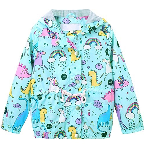- Welity Kids Girls Floral Print Lightweight Hooded Hoodie Jacket for Toddlers and Little Girls, Light Blue, US 7-8 Years (7T-8T)=Tag 140