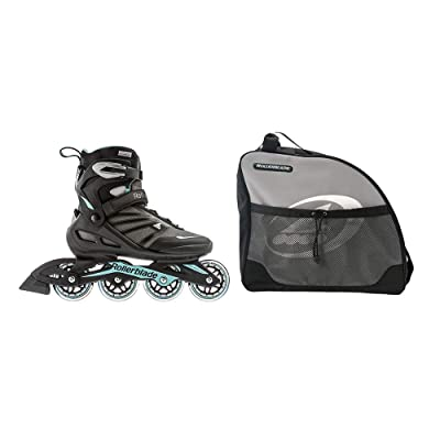 Rollerblade Women's Size 8 Inline Skates, Black & Skate Bag w/ Carry Straps : Sports & Outdoors