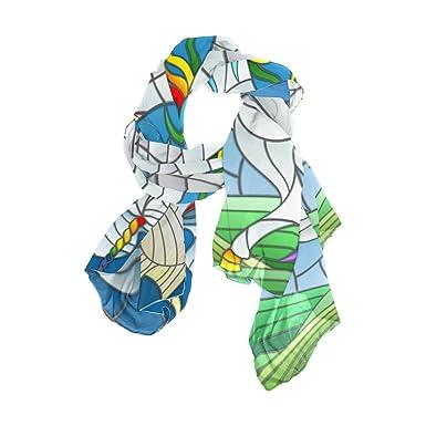 DEYYA Femme Echarpes vélo et Arbre Automne Wo plage Foulard en soie  Imprimer antisolaires Châle Wraps 90x180  CM  Multicolore  Amazon.fr   Vêtements et ... 2a5991d4279