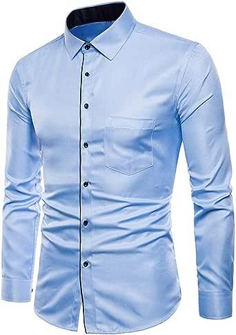 Camisas Casual Hombre Manga Larga, Covermason Hombres Oxford Trajes Formales Casuales Slim Fit tee Camisas de Vestir: Amazon.es: Ropa y accesorios