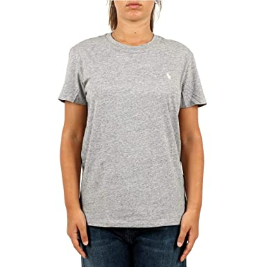 Polo Ralph Lauren T-Shirt in Cotone Donna Mod. 211706305 L: Amazon ...