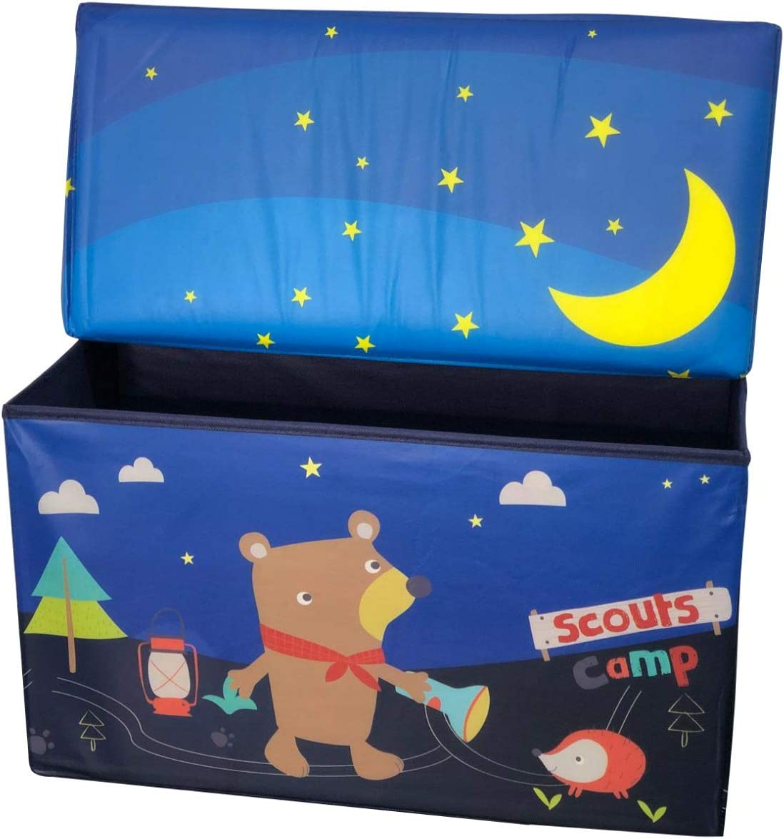 Doll Storage Stool Multifunctional Storage Stool Seat Bench Ottoman Box Organizer Kids Clothes Toy Chest Book Room Decoration