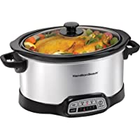 Hamilton Beach 33453 Programmable 5 Quart Slow Cooker (Stainless Steel)