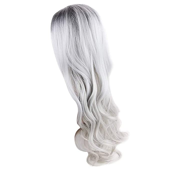 Mypace Blond Long Curly Straight Wavy Synthetic Full Hair Wig ...