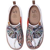 UIN Chica Monacan Zapatos Antideslizantes del Lona Mujeres