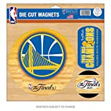 WinCraft Golden State Warriors Official NBA 11 inch x 11 inch 2015 NBA Finals Champions Car Magnet by 073327