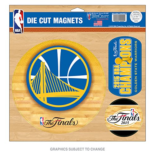 WinCraft Golden State Warriors Official NBA 11 inch x 11 inch 2015 NBA Finals Champions Car Magnet by 073327 by WinCraft
