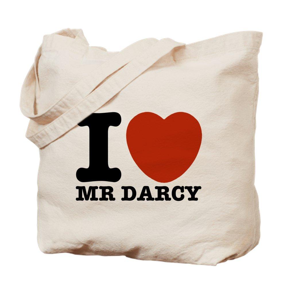CafePress - I Love Darcy - Jane Austen - Natural Canvas Tote Bag, Cloth Shopping Bag