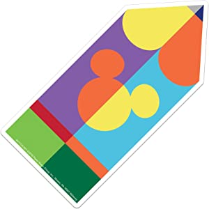 Eureka Back to School Disney Geo Mickey Mouse Pencil Classroom Decorations for Teachers, 36 pc 5.5'' W x 5.5'' H