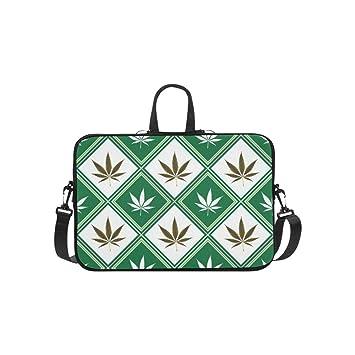 Cannabis Textura maletín Abstracto Bolsa de Ordenador portátil Bolsa de Trabajo Bandolera Bandolera Bandolera para Viajes de Negocios: Amazon.es: ...