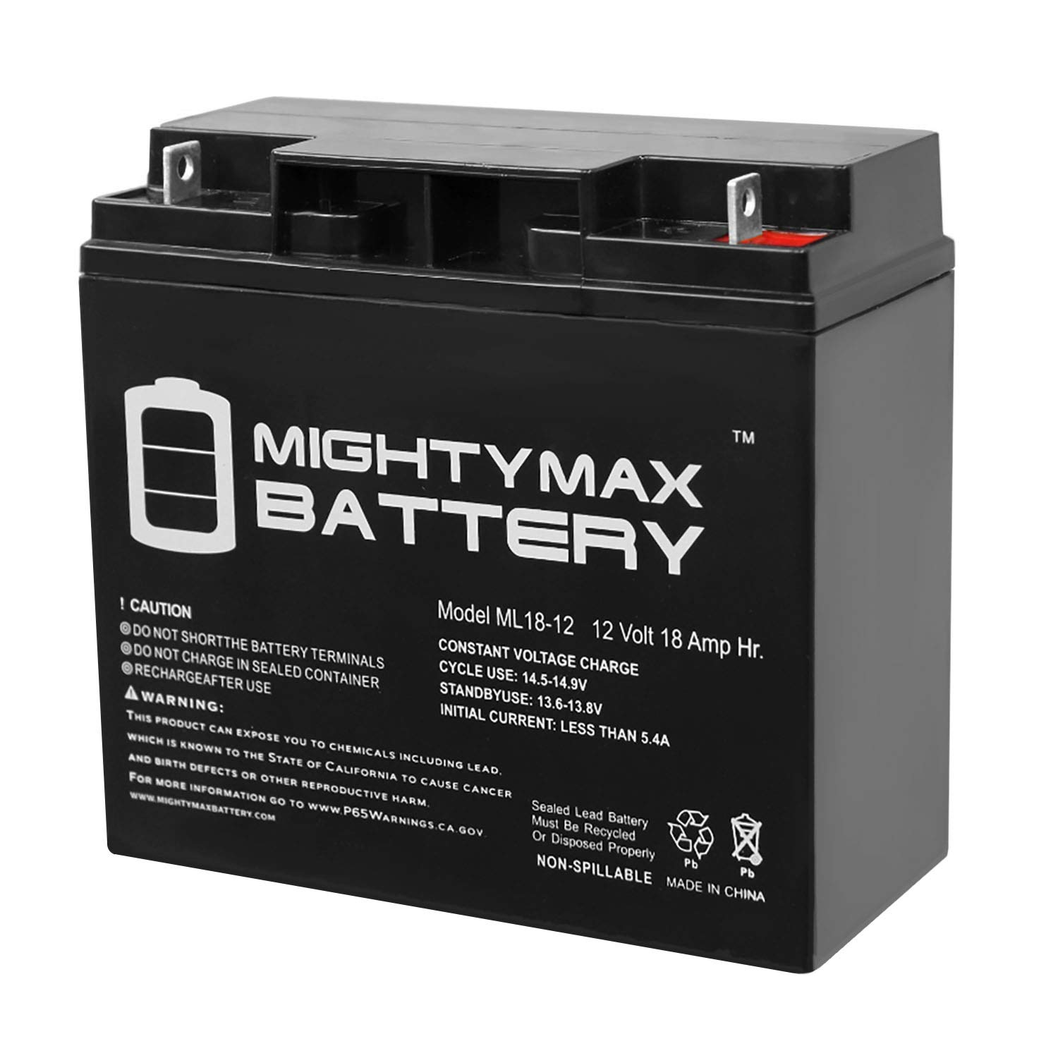Mighty Max Battery ML18-12 - 12V 18AH Rechargeable Battery for Champion Generator 9000 7000 Brand Product