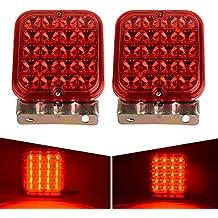 12V LED Trailer Tail Lights, AUTOSAVER88 WATERPROOF & ANTI-SHOCK Turn Signal Brake Tail Light 20-LEDs Red 12V