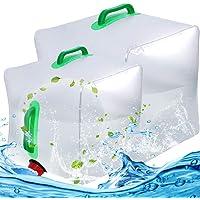 BESTZY Bidón de Agua Plegable Depósito de Agua Contenedores de Agua, Plegable y Flexible envases para Uso en Exteriores…