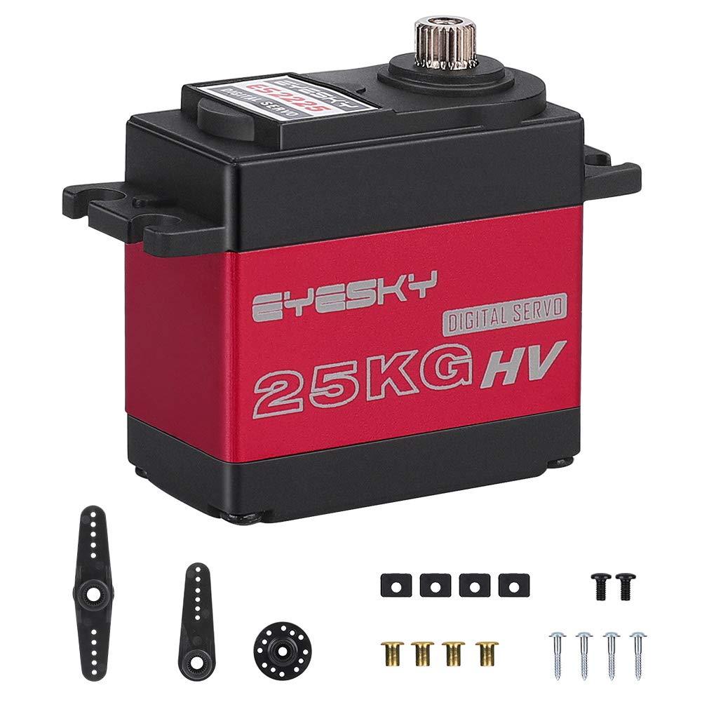 EYESKY 25KG Digital Servo High Torque Full Aluminum Gear Waterproof for RC Model DIY (Control Angle 180°)