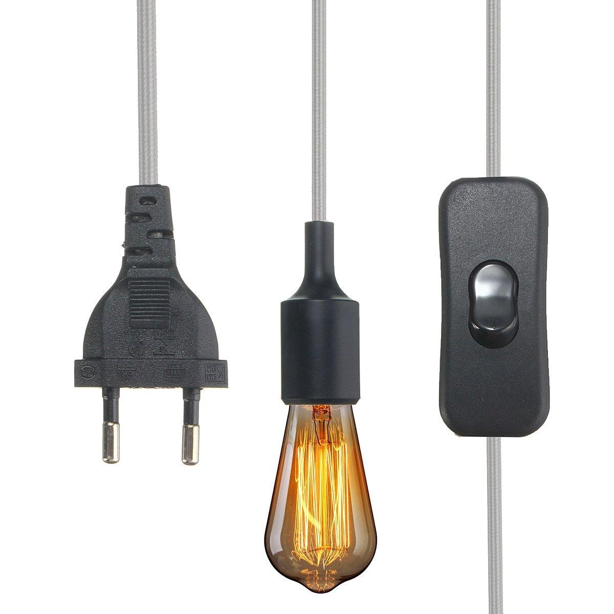 KINGSO E27 Lampenfassung Edison Lampenhalter Silikon Fassung mit ...