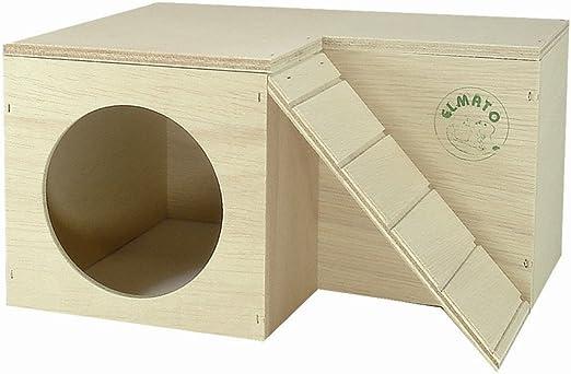 Elmato 10305 Hazienda - Madriguera para cobayas con Escalera: Amazon.es: Productos para mascotas