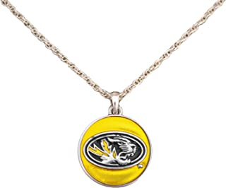 product image for SAS Missouri Tigers Translucent Enamel Circle Charm Necklace Jewelry