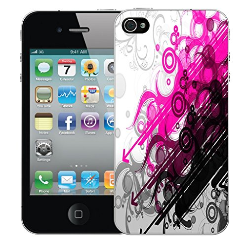 Mobile Case Mate iPhone 4s Silicone Coque couverture case cover Pare-chocs + STYLET - Artful pattern (SILICON)