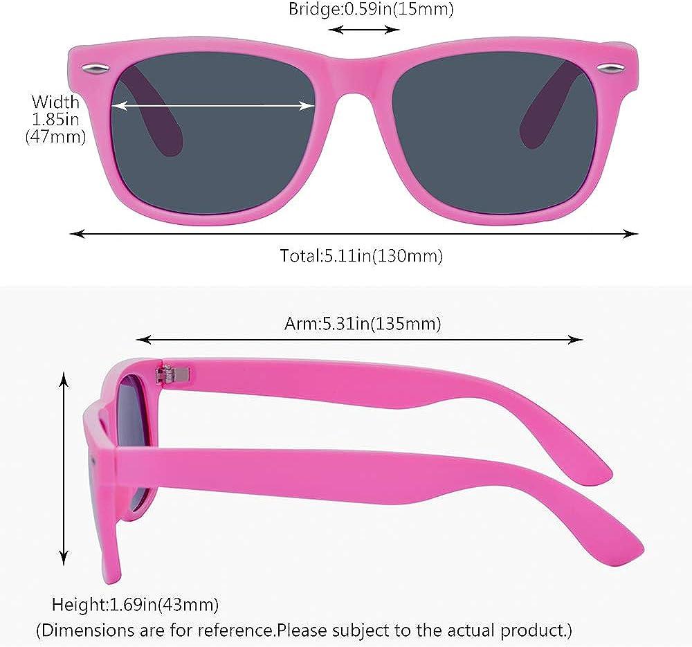 ALWAYSUV Kinder Bequem Polarisierte Sonnenbrillen f/ür Jungen und M/ädchen Alter 3-10 Brillenfassung