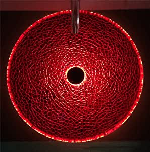 Glass Vessel Sink Mounting Ring Light Red Led Vessel