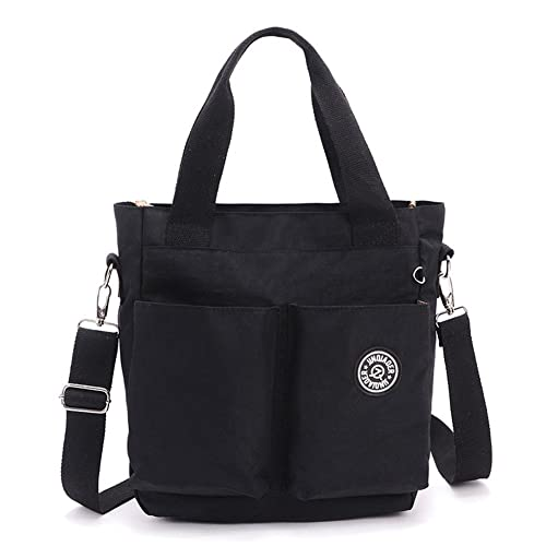 d06bba137e Hynbase Women s Cross Boby Hangbag Casual Waterproof Nylon Hobos Shoulder  Bag Black