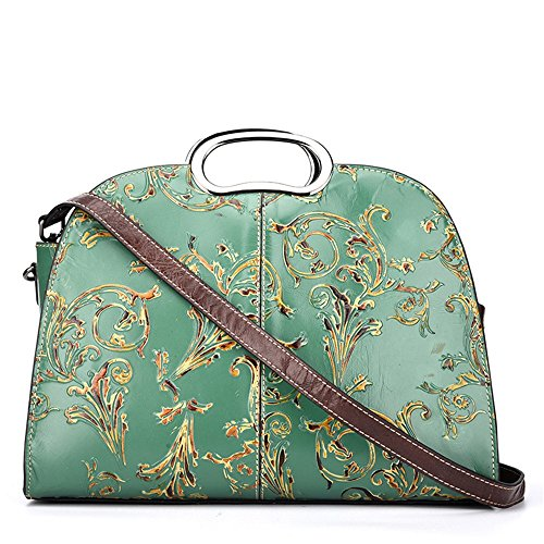 la La la en sac de couche de de cuir main Convient de embossé Grande sac à première à à le fourre tout sac capacité diagonale main Vert Vert Couleur mode de quotidien main a usage pour un dame 5nHw8Zfwq7