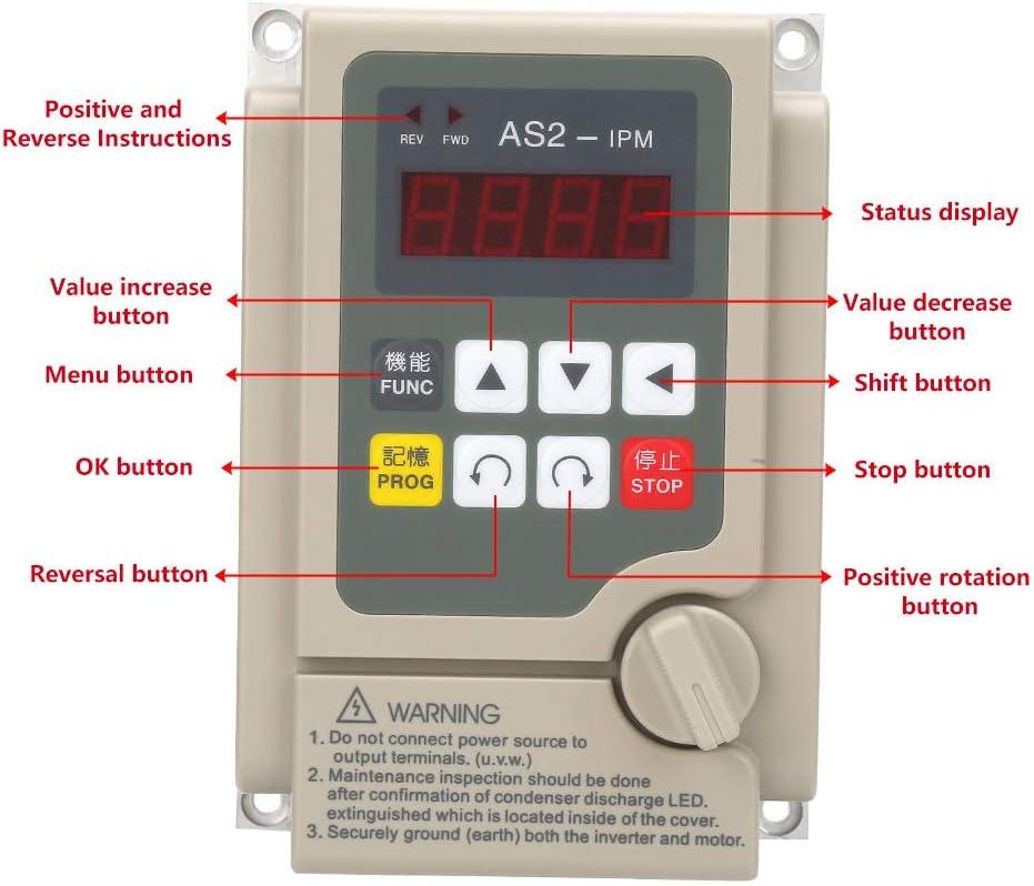 Single Phase Input//3 Phase Output 220V Variable Frequency Converter Inverter for 0.75KW Motor Single Phase Inverter