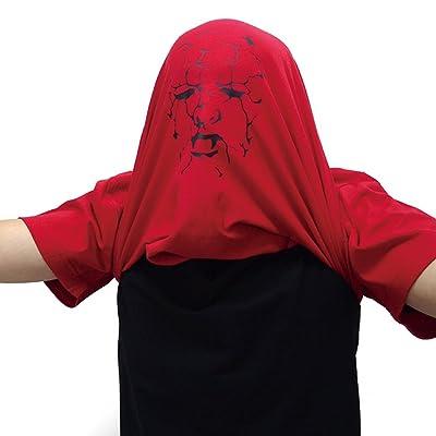 シャレもん ハロウィン かぶって 変身 Tシャツ【赤】【Wryyy】仮装 面白雑貨/I7/