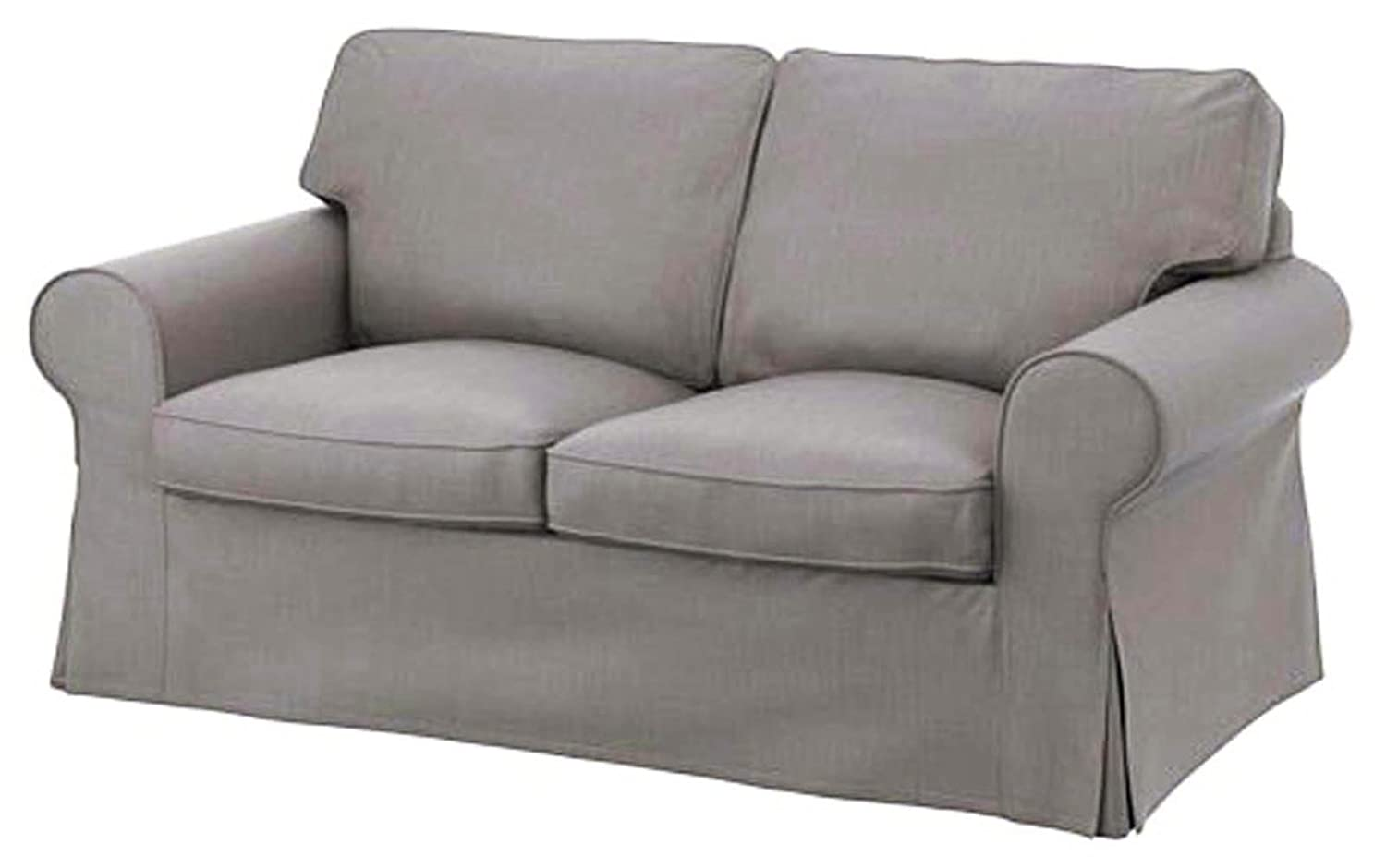 ikea blends ektorp couch covers sectional couches slipcover cotton grey nomad slipcovers en sofa replacement armchair