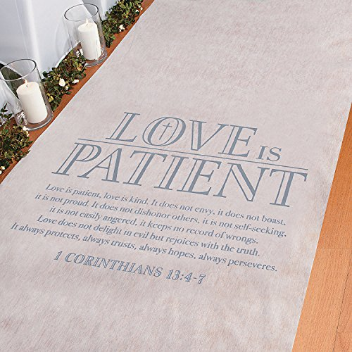Love is Patient Aisle Runner by CusCus