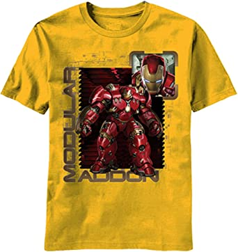 Marvel Avengers Age of Ultron Modular Stamp Camiseta Amarilla para Niños | 4: Amazon.es: Ropa y accesorios