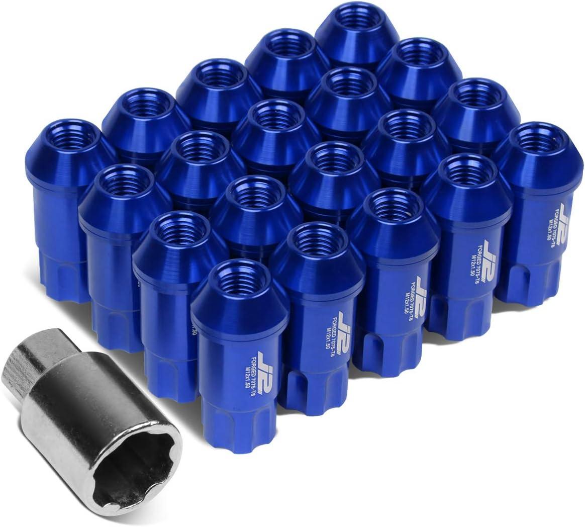 1x Key 70mm 20x Lug Nut J2 Engineering LN-T7-025-15-SL 7075 Aluminum M12 x 1.5 25mm OD