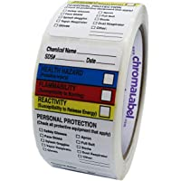 ChromaLabel 1.5 x 2.5 inch HMIG Write-in Labels | 250/Roll