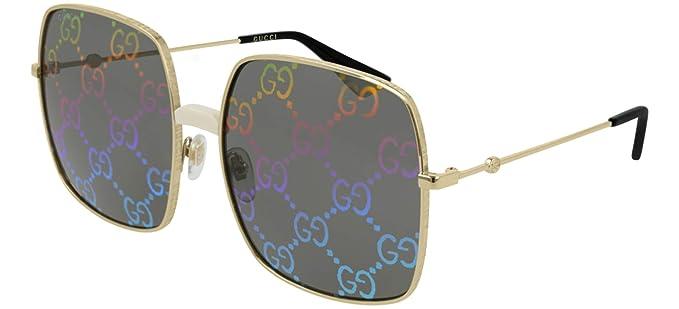 Amazon.com: Gucci GG0414S - Gafas de sol cuadradas de metal ...