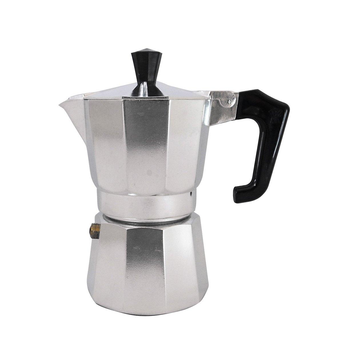 Pezzetti Stove-Top Moka Espresso Italian-Made Coffee Maker Moka Pot- 1,2,3,6,9,14 Cup (2 Cup) by Pezzetti
