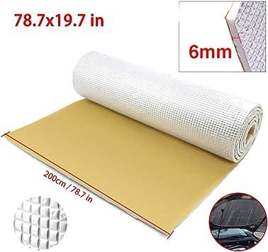 GCAILIAOSHIYOU - Alfombrilla de Aislamiento de Sonido para Coche (6 mm, Superficie de algodón, Aluminio Aislante): Amazon.es: Electrónica