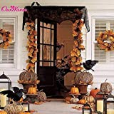 Ornaments Halloween Place Fire Halloween Decoration Cobweb Fireplace Scarf Black Lace Spider Web Mantle for Home Party Decoration Halloween Ornaments