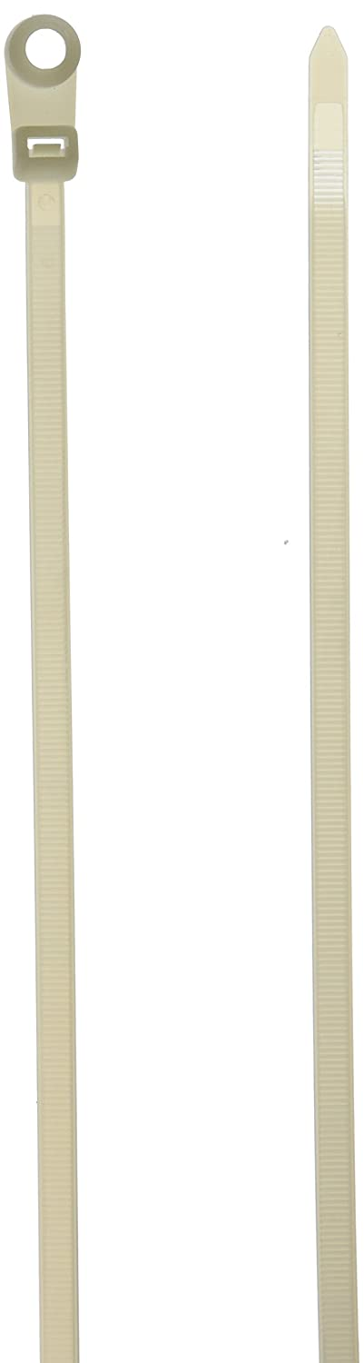 Monoprice 105790 14 Inch 120LBS Mountable head Cable Tie 100 Piece Pack White