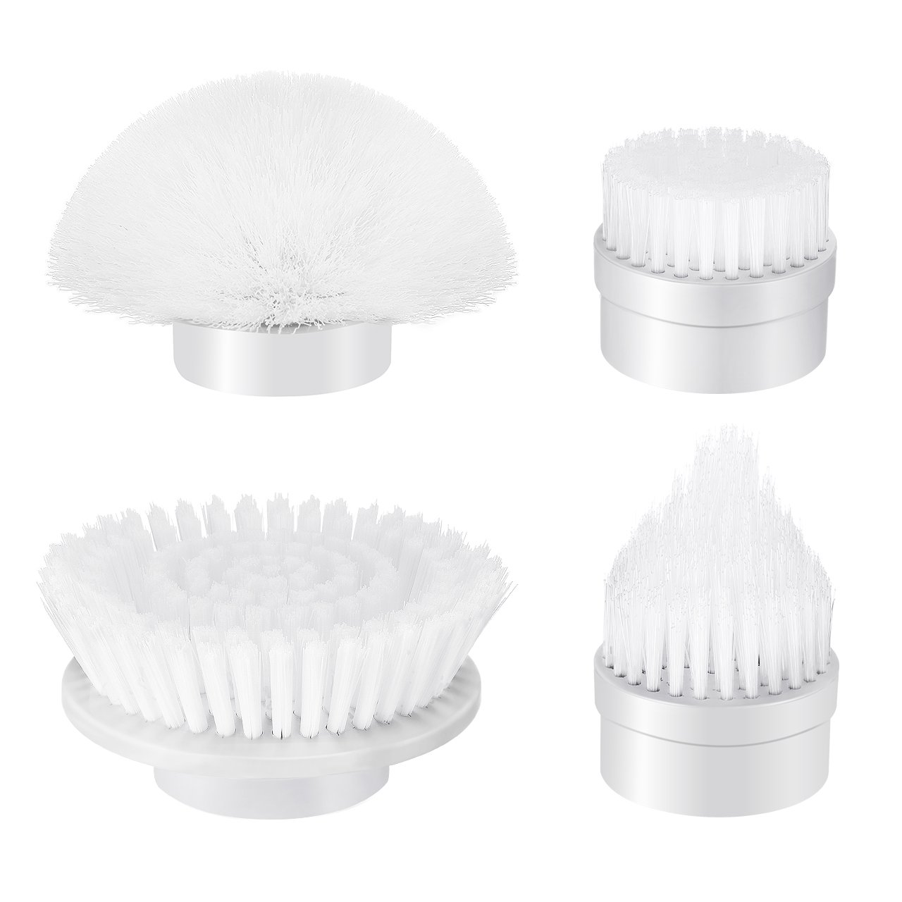 4pcs Power Spin Scrubber Replacement Brush Heads, ELLESYE Electric Cordless Tub and Tile Scrubber Head Brushes for Bathroom, Shower, Floor, Wall and Kitchen