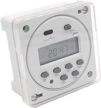 heschen Digital LCD de alimentaci/ón semanal temporizador programable interruptor de rel/é tm-619/ /4/DC 12/V 16/A SPST 4/pines