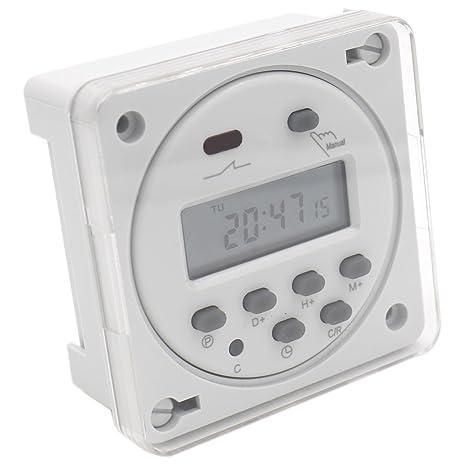Temporizador digital programable semanal con pantalla LCD de Heschen, interruptor de relé CN101A AC 200