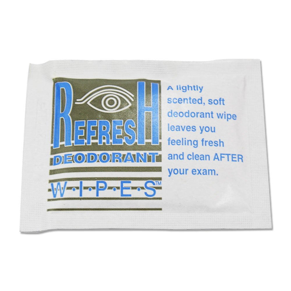 REFRESH DEODORANT WIPES STJ-911 Mammography Patient Wipe, Lightly Scented, Individually Packaged (Pack of 500) by REFRESH DEODORANT WIPES